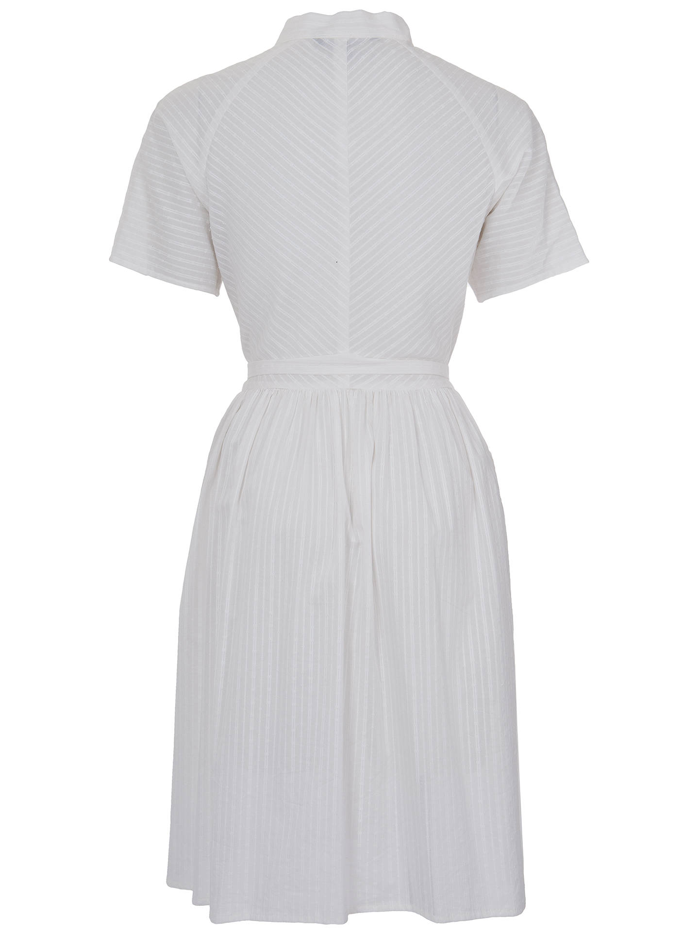 Buy French Connection Broderie Dobby Twist Cotton Dress, White, 6 Online at johnlewis.com