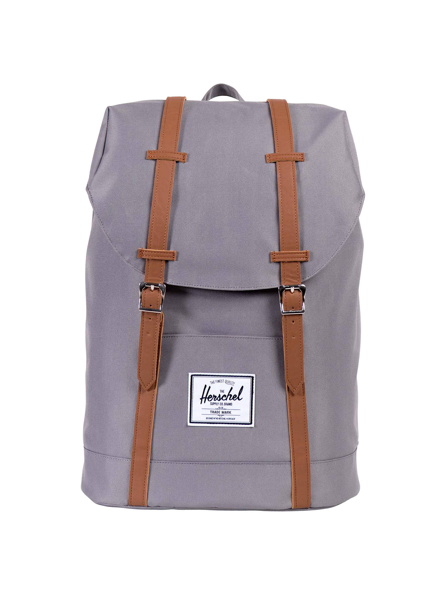 63bbbd3898f0 Buy Herschel Supply Co. Retreat Backpack, Grey/Tan Online at johnlewis.com  ...