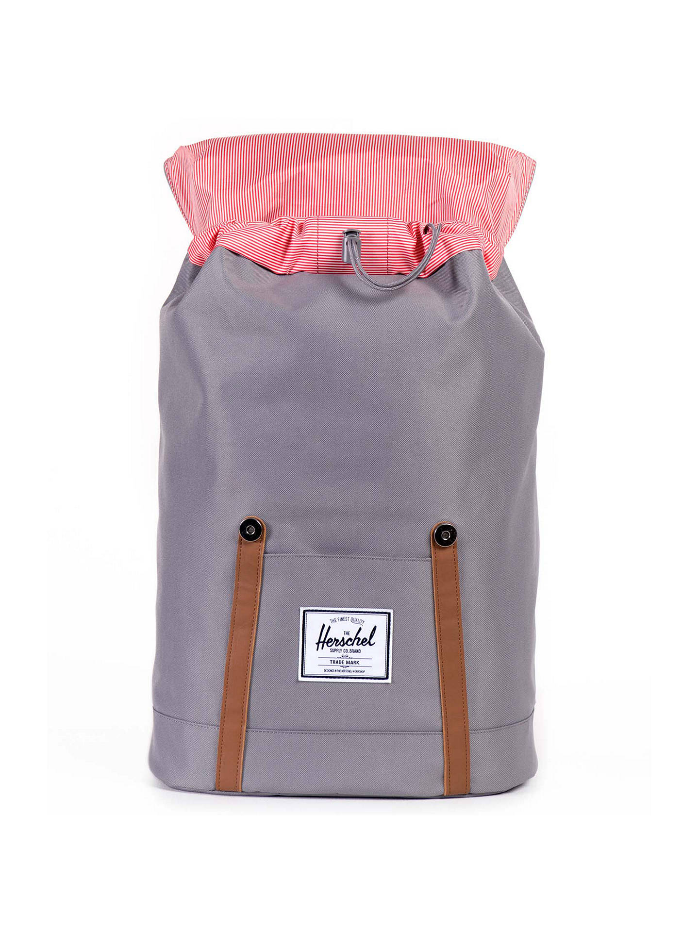 0907ca0bf2d8 ... Buy Herschel Supply Co. Retreat Backpack, Grey/Tan Online at  johnlewis.com ...