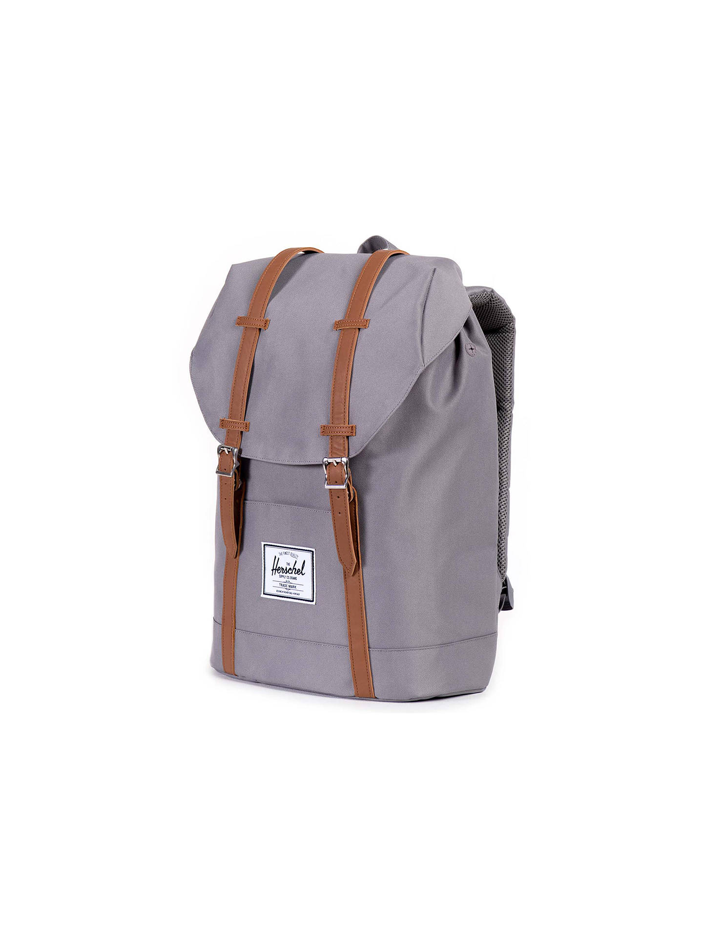 7f161ea20023 ... Buy Herschel Supply Co. Retreat Backpack, Grey/Tan Online at  johnlewis.com