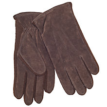 Buy John Lewis Suede Sandwich Top Stitch Gloves, Brown Online at johnlewis.com
