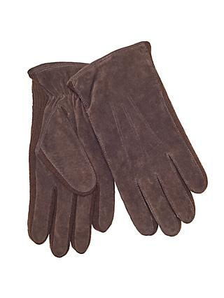 John Lewis & Partners Suede Sandwich Top Stitch Gloves, Brown