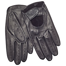 Buy John Lewis Leather Driving Glove, Black Online at johnlewis.com