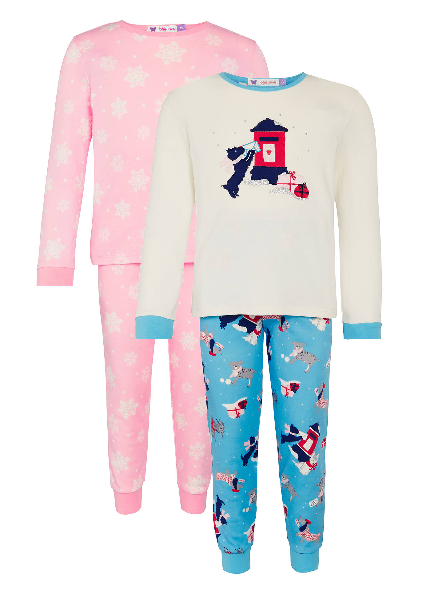 952b61149d BuyJohn Lewis Girls  Christmas Dog Print Pyjamas