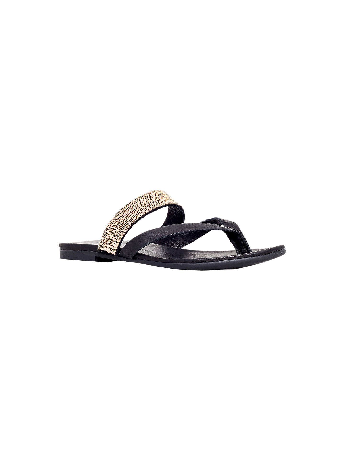 0d00684ad KG by Kurt Geiger Mae Leather Toe Thong Sandals at John Lewis   Partners