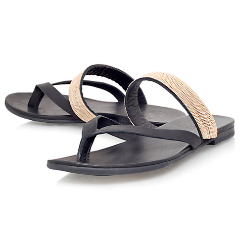 Buy KG by Kurt Geiger Mae Leather Toe Thong Sandals Online at johnlewis.com