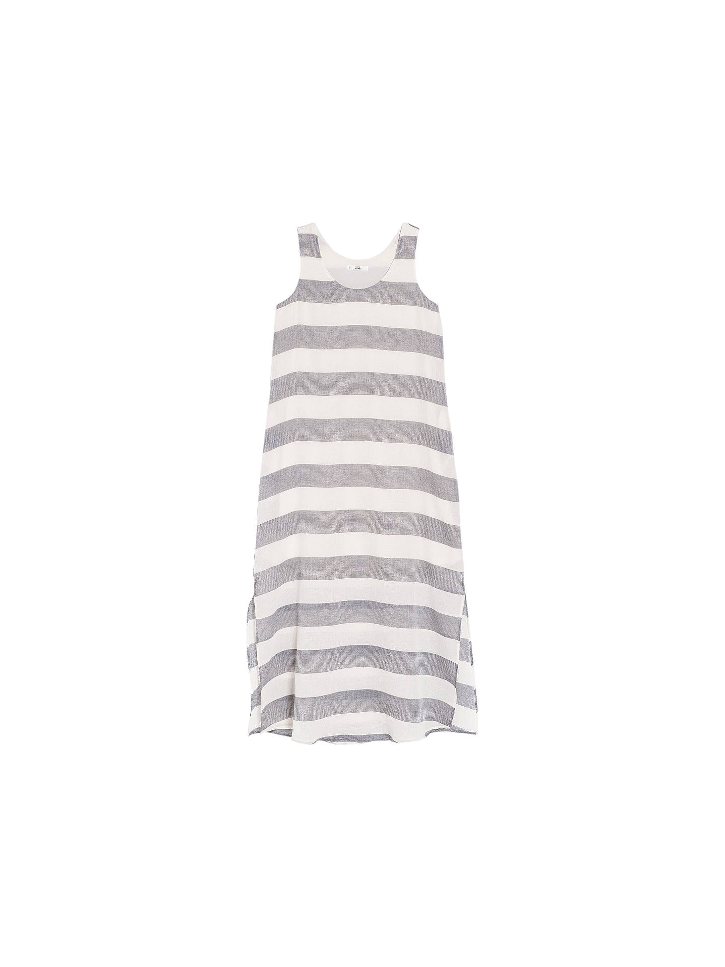 677f6af95096 Buy Mango Side Slit Striped Maxi Dress, Black/White, 6 Online at johnlewis  ...
