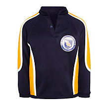 Buy St John's International School Boys' Reversible Rugby Jersey, Navy Blue/Yellow Online at johnlewis.com