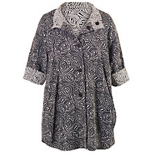 Buy Chesca Swirl Jacquard Reversible Coat, Navy/Ivory Online at johnlewis.com