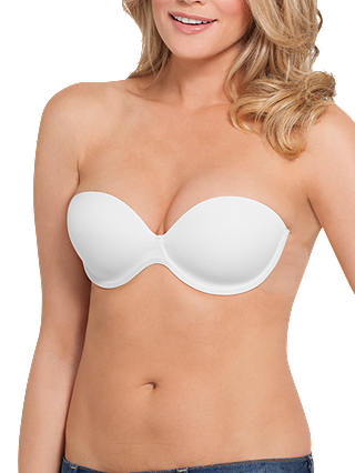 Buy Fashions Forms Go Bare Backless Strapless Bra, White, B Online at johnlewis.com