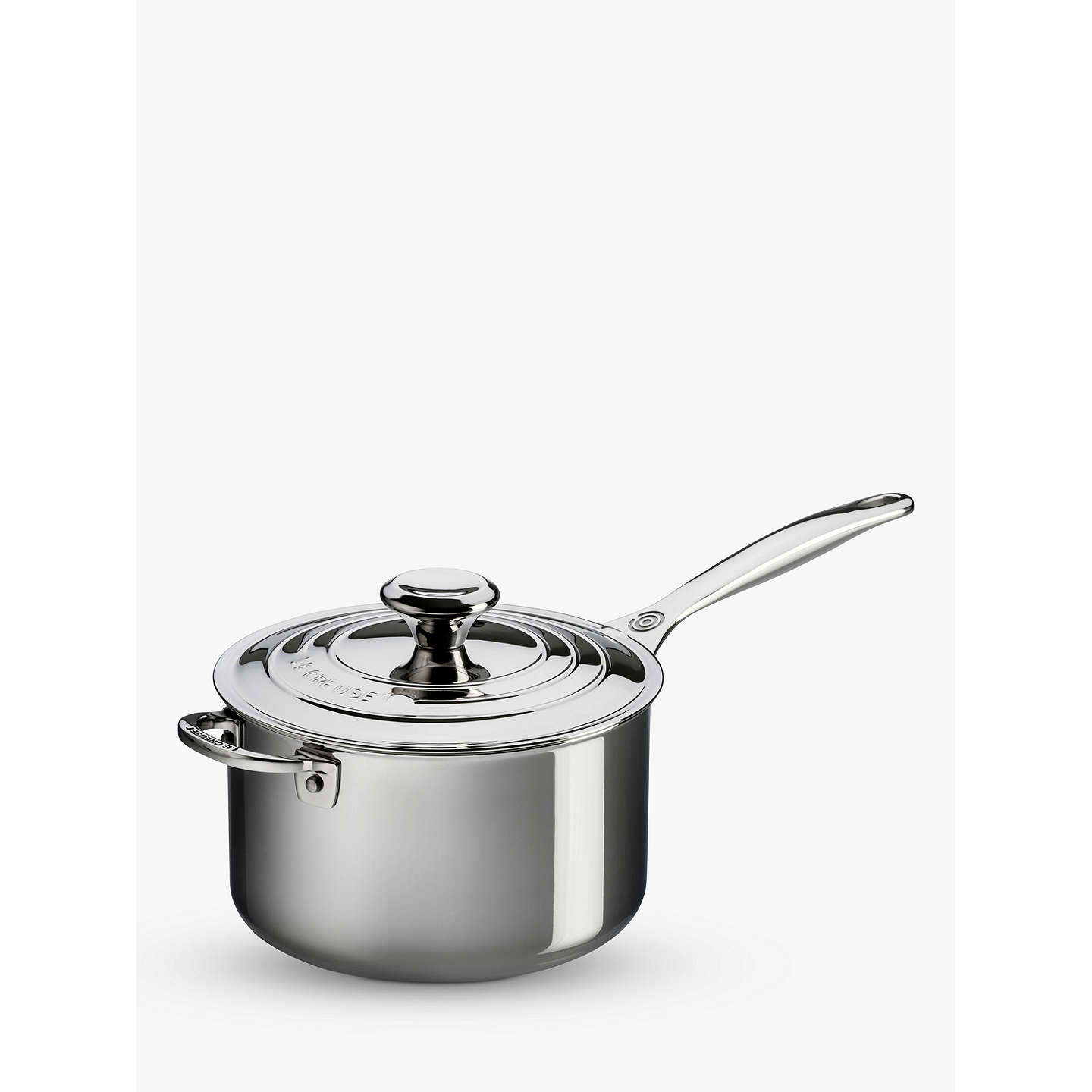 le creuset signature 3 ply stainless steel saucepan at john lewis. Black Bedroom Furniture Sets. Home Design Ideas