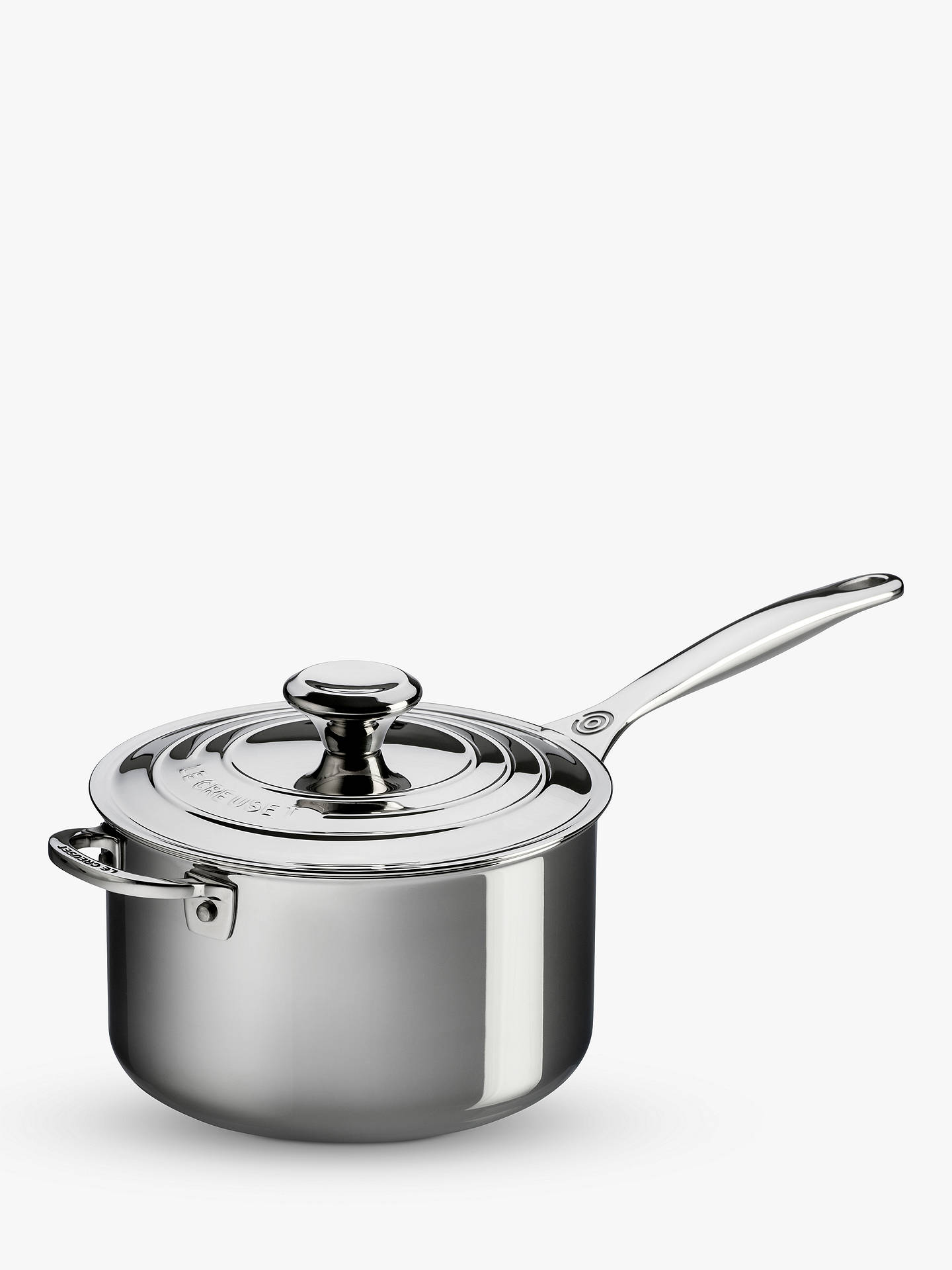 Buy Le Creuset Signature 3-Ply Stainless Steel Saucepan, Dia.16cm Online at johnlewis.com