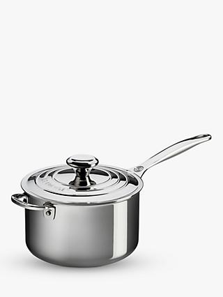 Le Creuset Signature 3-Ply Stainless Steel Saucepan