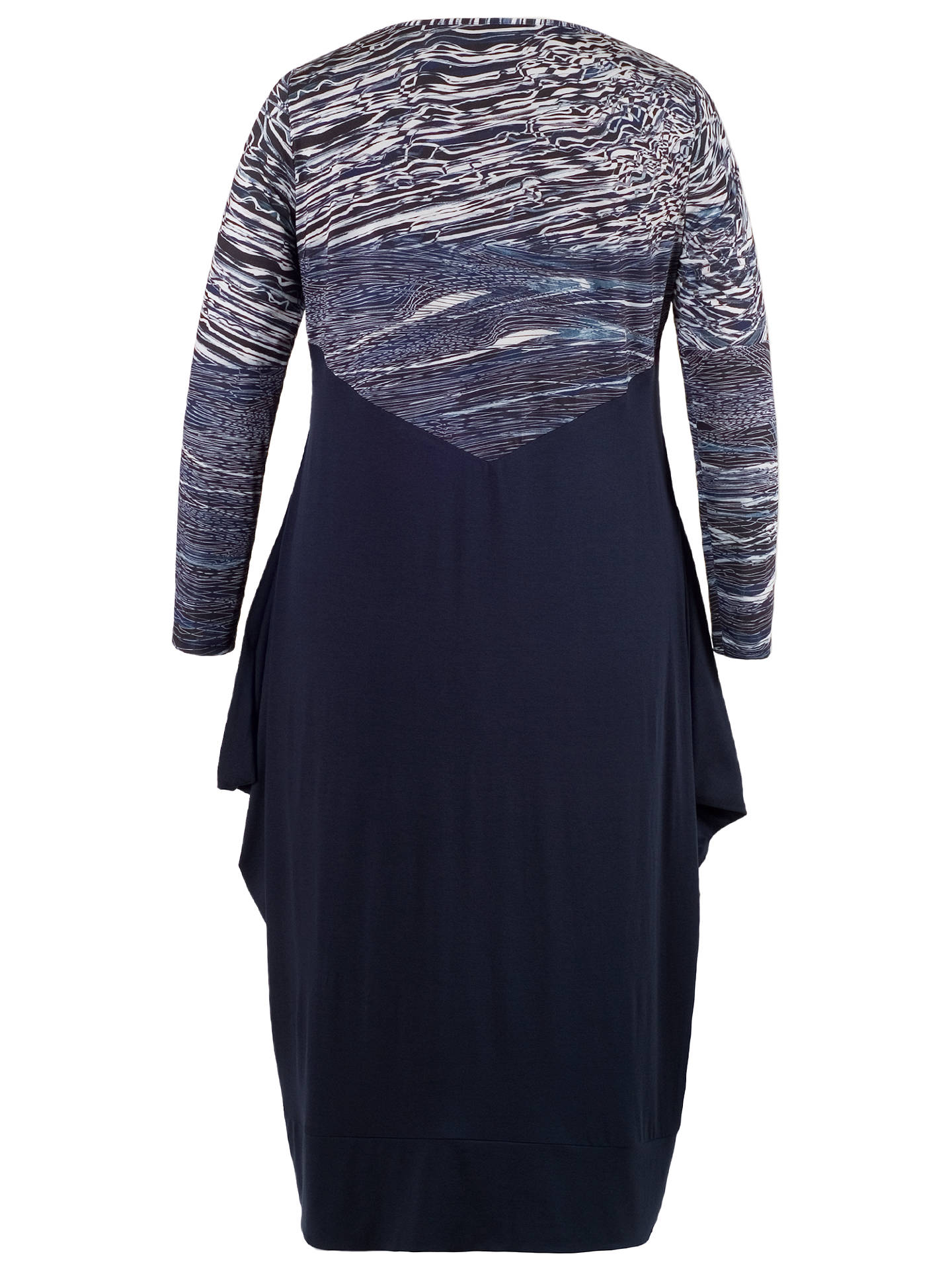 Buy Chesca Ribbon Print Bodice Dress, Navy, 12-14 Online at johnlewis.com