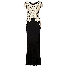 Buy Phase Eight Collection 8 Allegra Tapework Dress, Black/Champagne Online at johnlewis.com