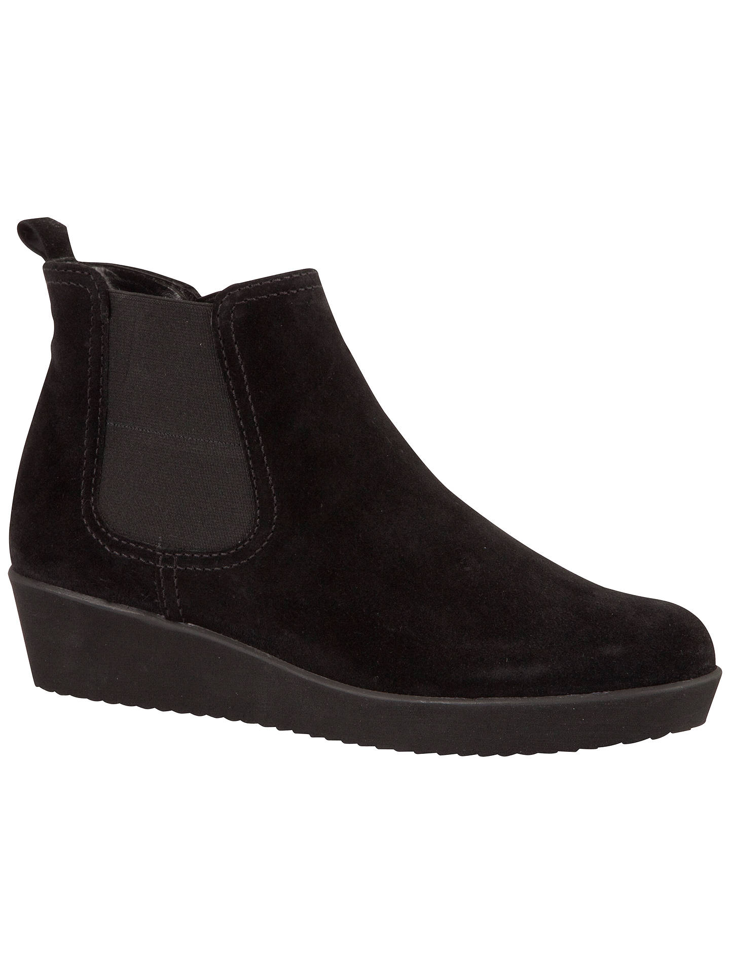 8126a037281 Gabor Ghost Wide Suede Ankle Boots, Black at John Lewis & Partners