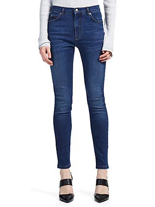 Whistles Mid Wash Skinny Jeans, Denim