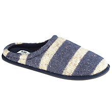 Buy Kin by John Lewis Fleck Stripe Slippers, Navy Online at johnlewis.com