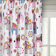 Buy little home at John Lewis Abbey Elephant Pencil Pleat Blackout Lined Children's Curtains Online at johnlewis.com