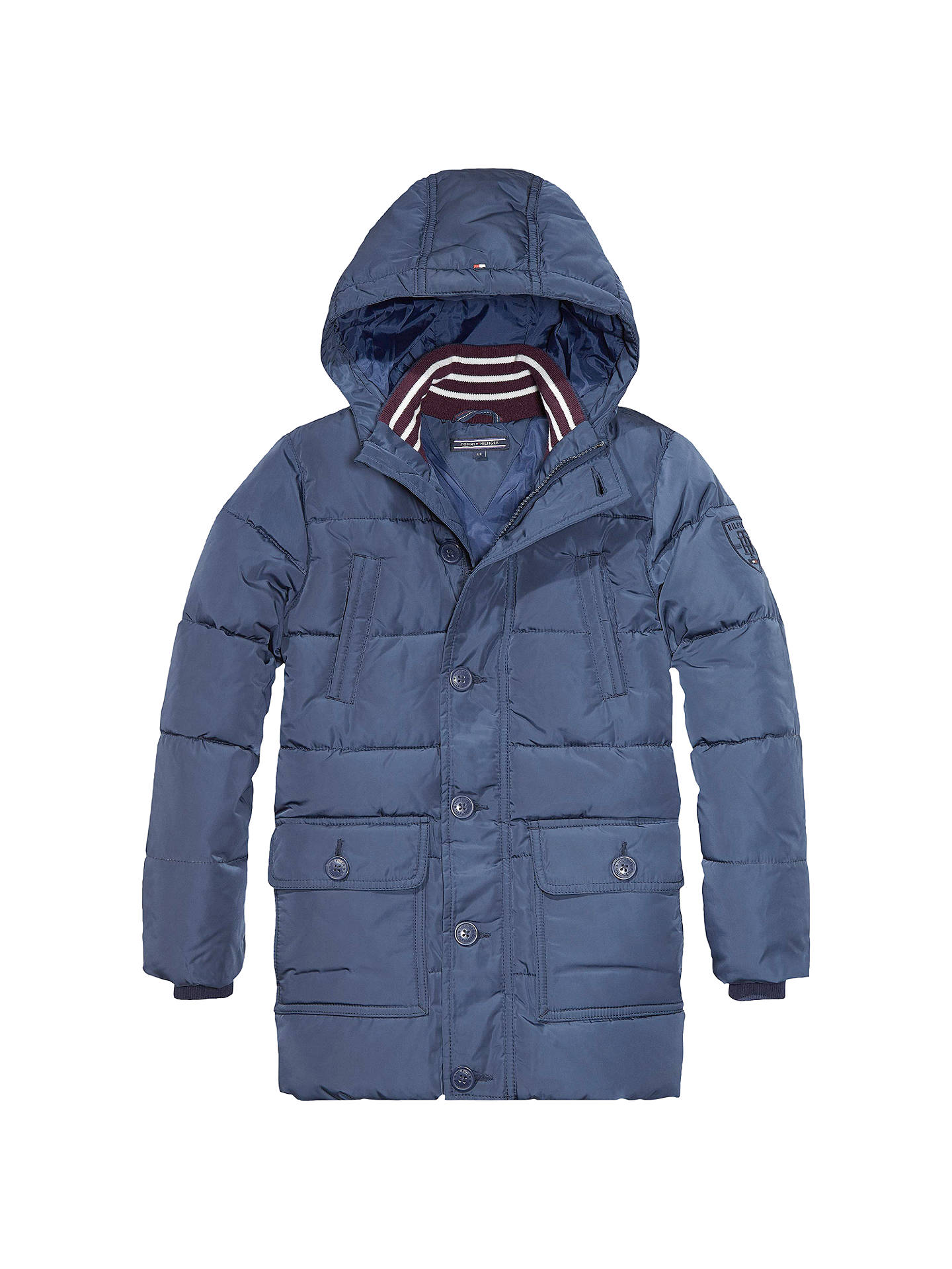 BuyTommy Hilfiger Boys  Back To School Jacket, Navy, 2 years Online at  johnlewis e458f0fb3d