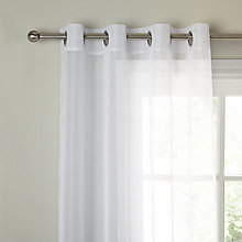 Buy John Lewis The Basics Voile Eyelet Panel, White Online at johnlewis.com