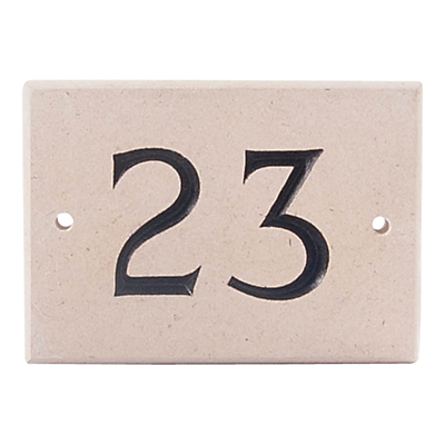 The House Nameplate Company Personalised Portland Stone House Number, 2 Digit, W14 x H10cm