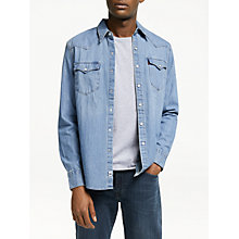 Buy Levi's Barstow West Denim Shirt, Red Cast Stone Online at johnlewis.com