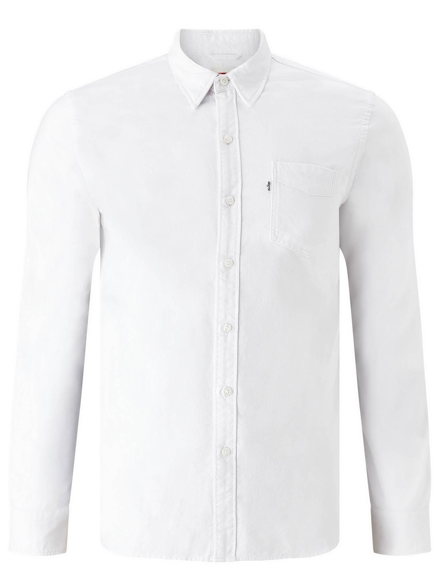 ... BuyLevi's Sunset One Pocket Oxford Shirt, White, S Online at johnlewis. ...