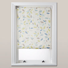 Buy John Lewis Scattered Leaves Blackout Roller Blind, Pastel Online at johnlewis.com
