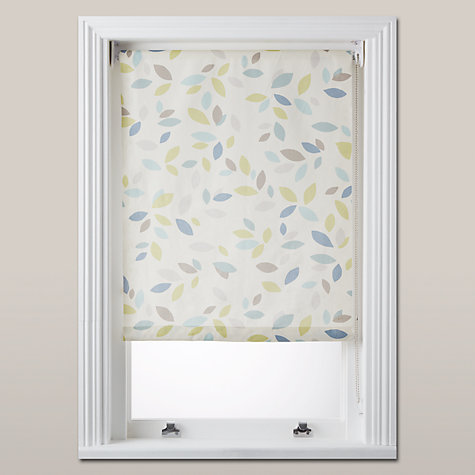 Buy John Lewis Scattered Leaves Blackout Roller Blind