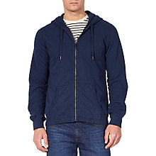 Buy JOHN LEWIS & Co. Slub Cotton Full Zip Hoodie, Navy Online at johnlewis.com