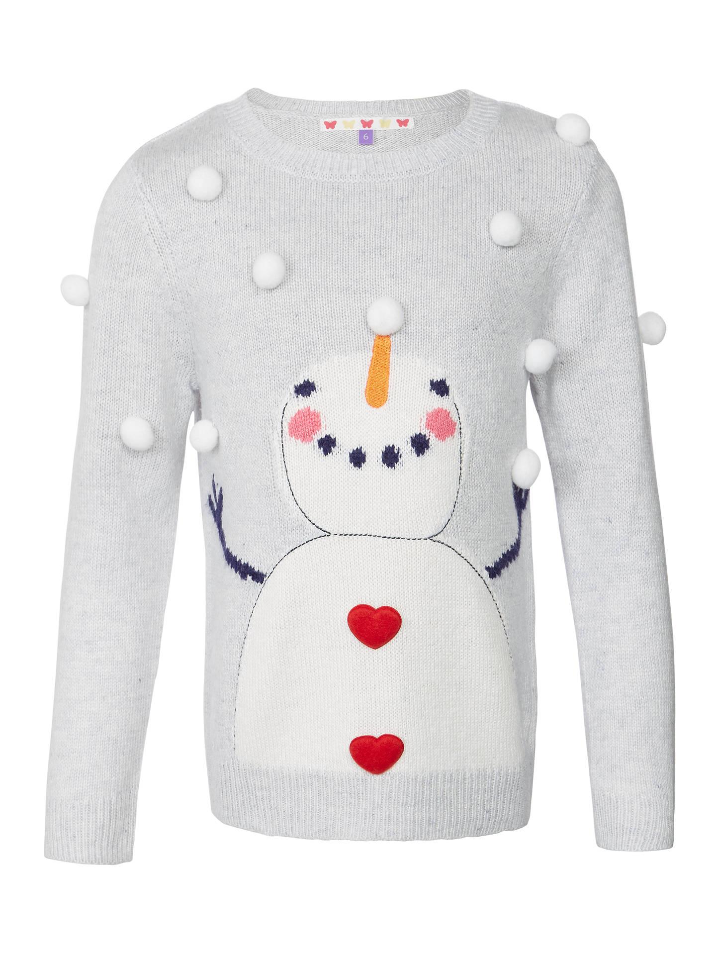 97ca7c06118 Buy John Lewis Girls  Christmas Snowman Jumper
