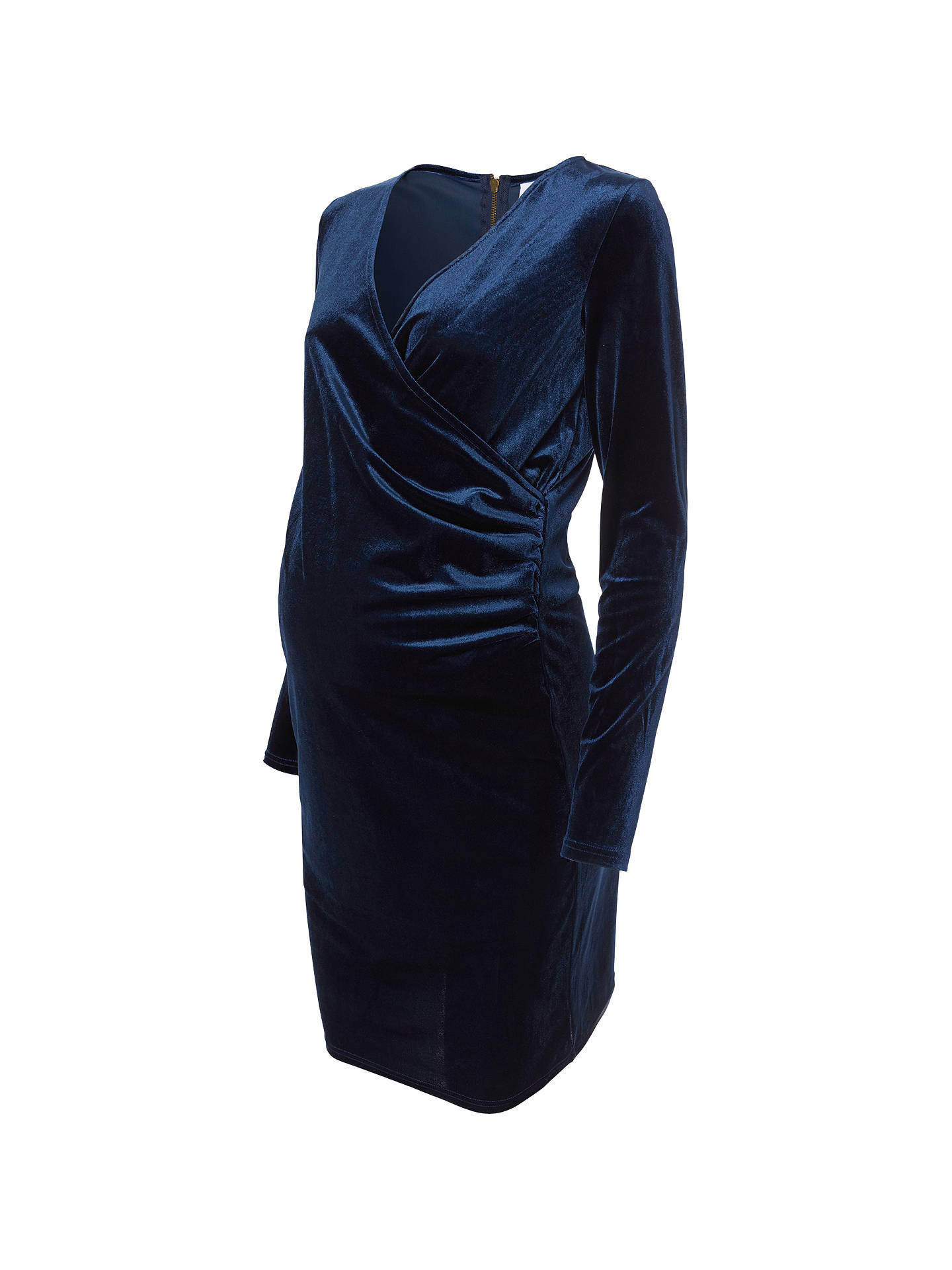 211c6e64408 BuyMamalicious Mona Velvet Wrap Maternity Dress