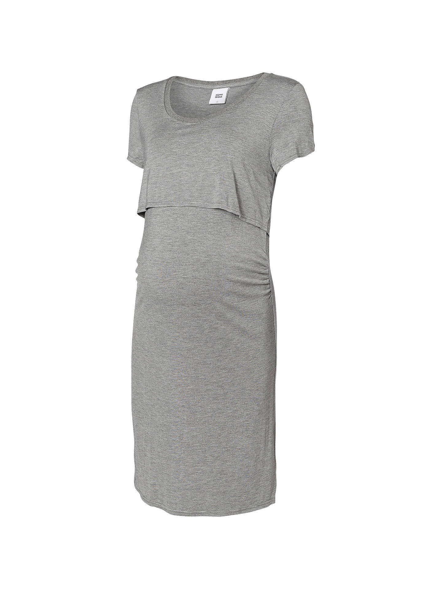73761db9c5cdd Buy Mamalicious Cage Short Sleeve Jersey Maternity Dress, Grey, S Online at  johnlewis.