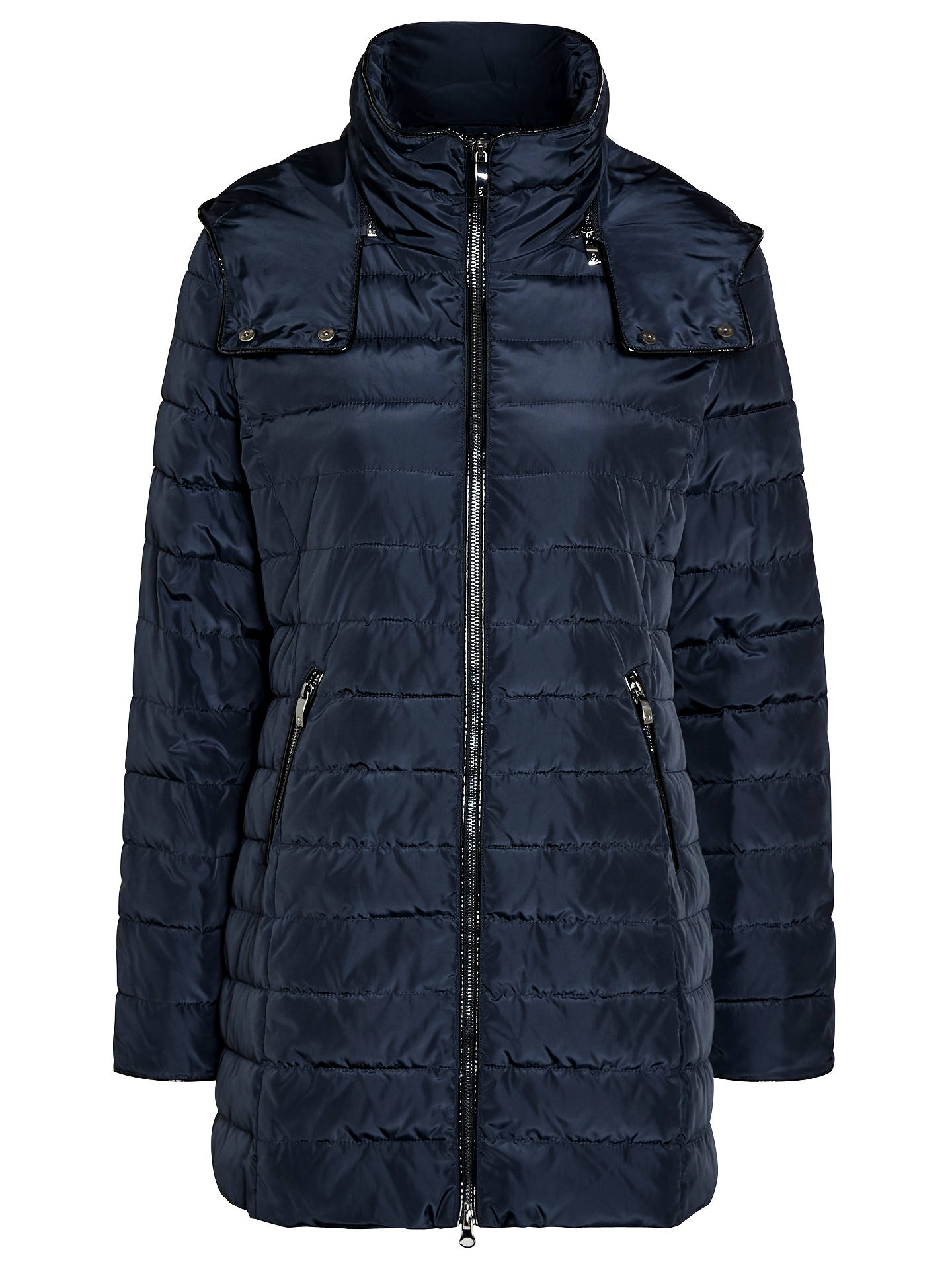 bf168469f74c Armani Jeans Long Hooded Quilted Coat at John Lewis   Partners