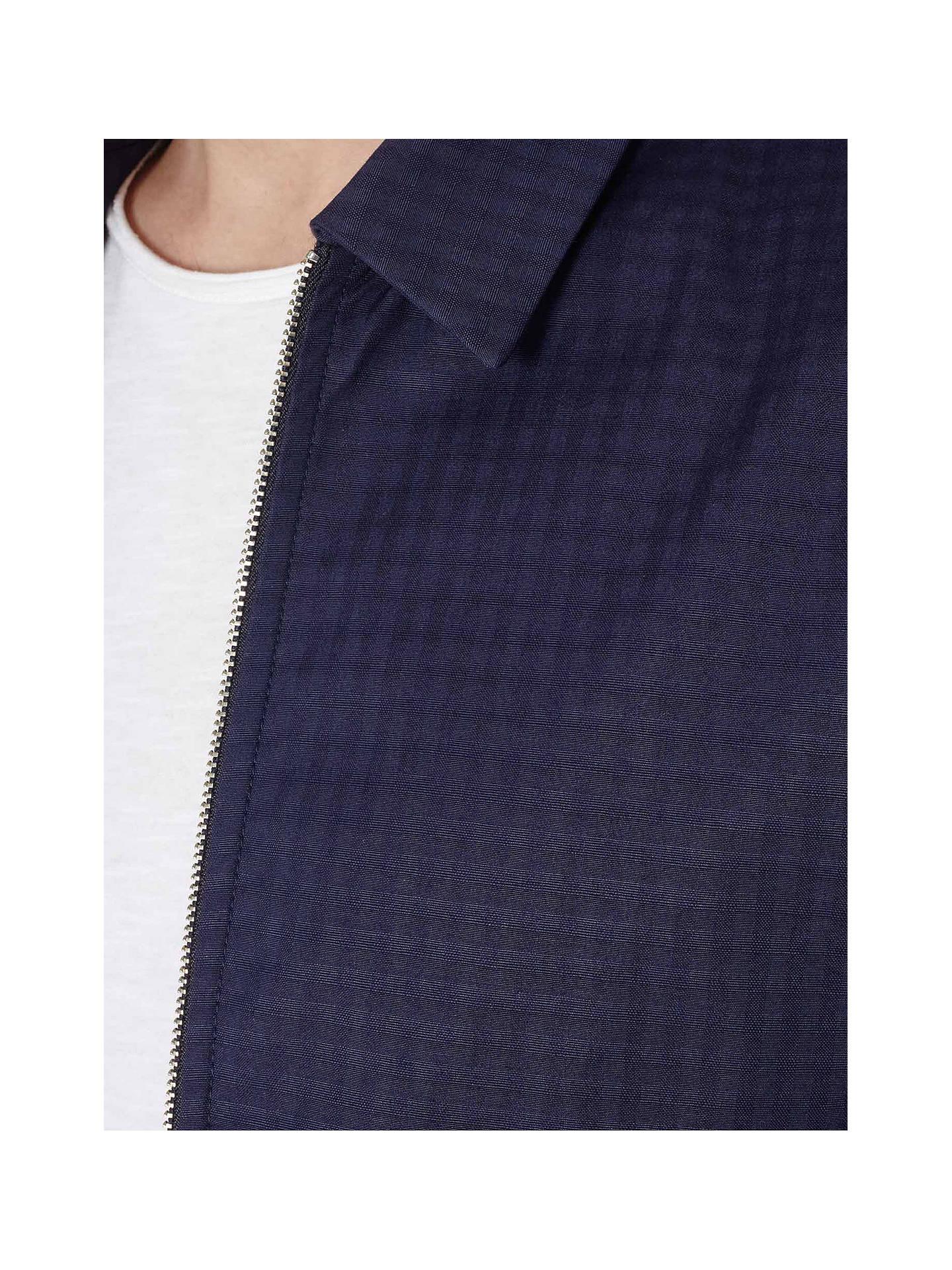 921a18f6c ... Buy Reiss Rocco Check Harrington Jacket, Blue, XS Online at  johnlewis.com