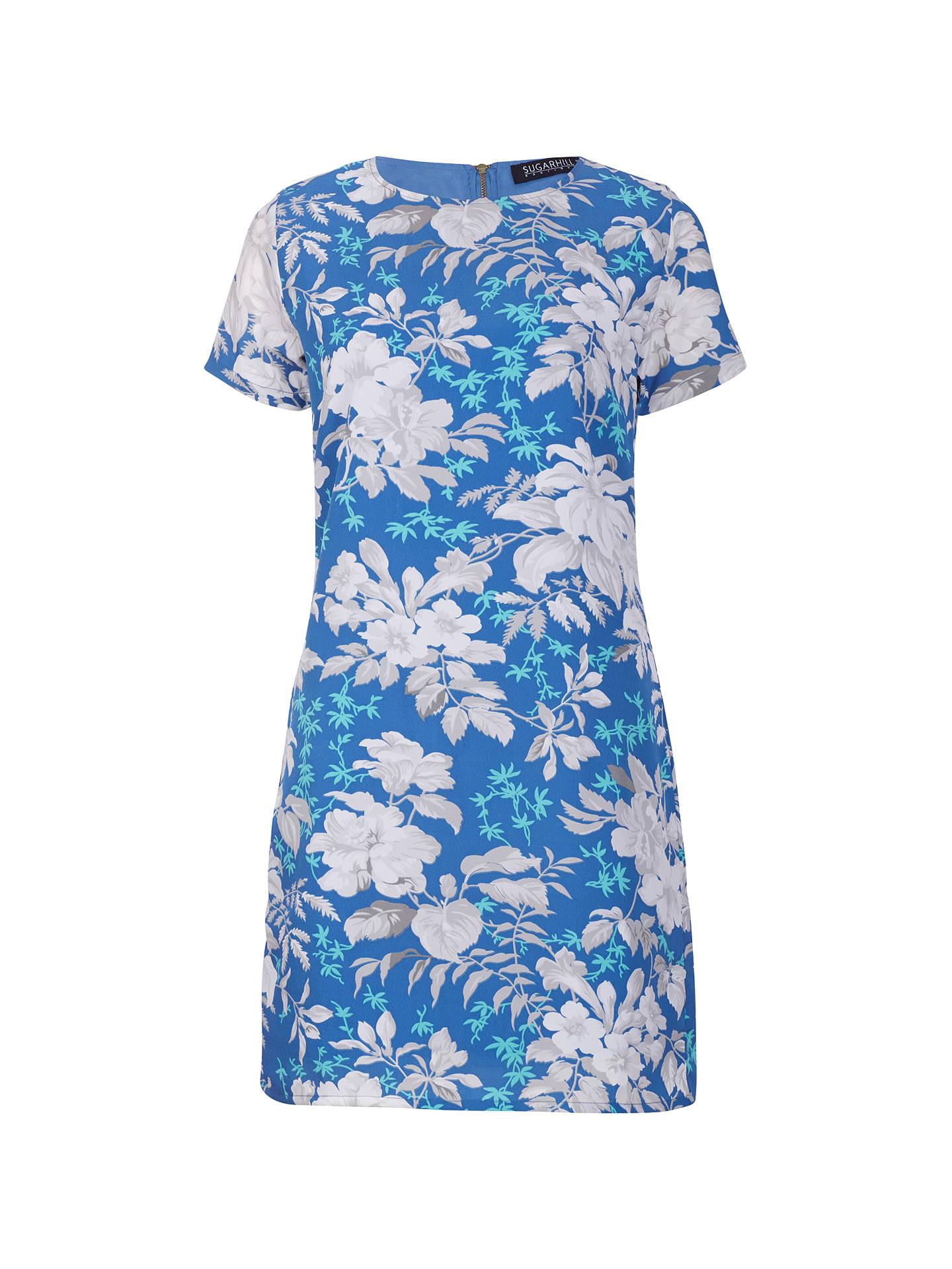 00edd90a5ffd2 Buy Sugarhill Boutique Hawaiian Flower Tunic Dress, Cornflower Blue, 8  Online at johnlewis.