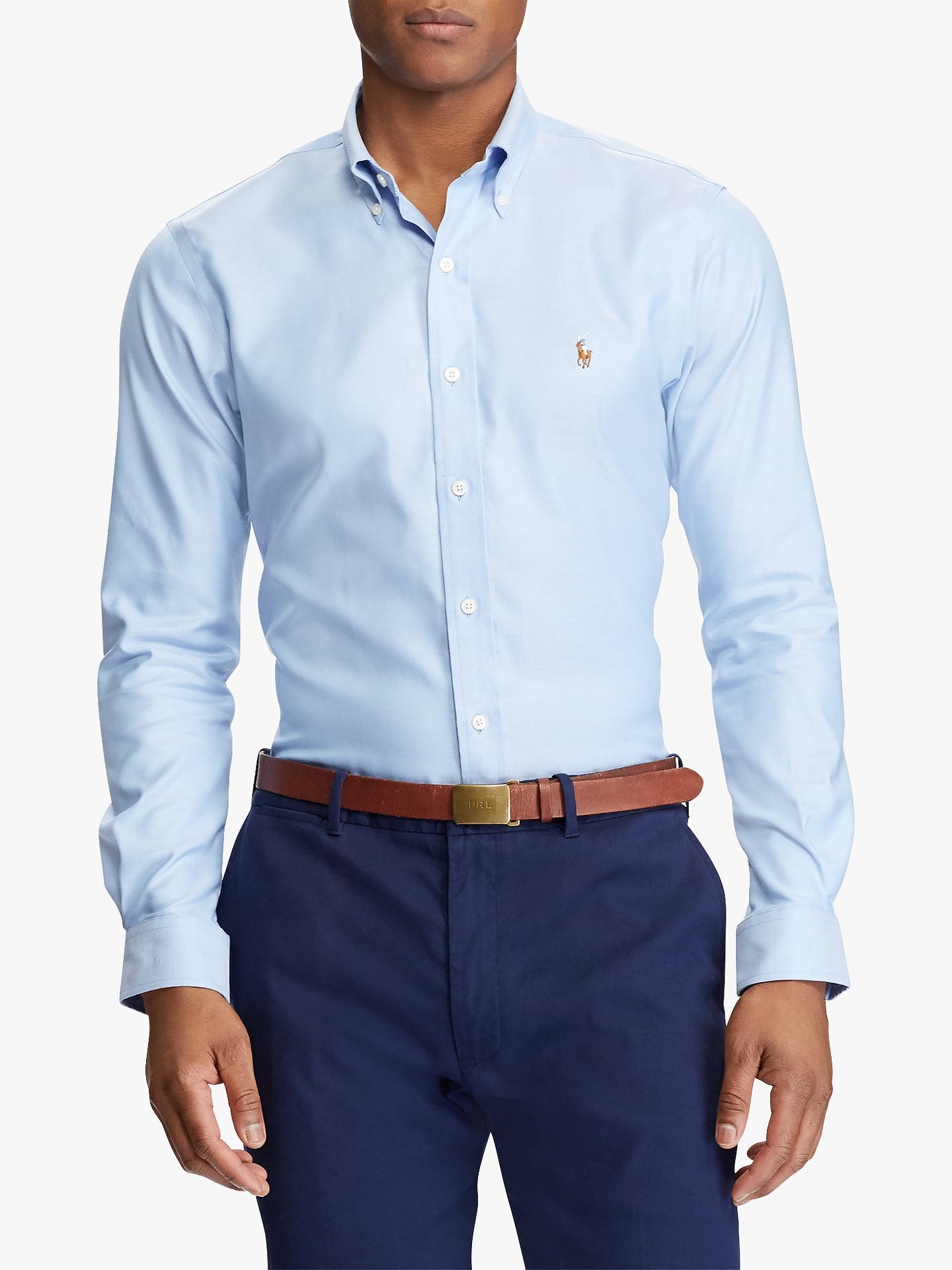 BuyPolo Golf by Ralph Lauren Non-Iron Oxford Shirt, Light Blue, M Online at johnlewis.com