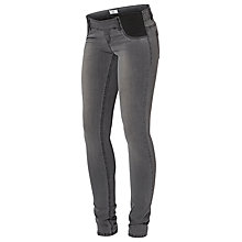 Buy Mamalicious Ida Skinny Maternity Jeggings, Dark Grey Online at johnlewis.com