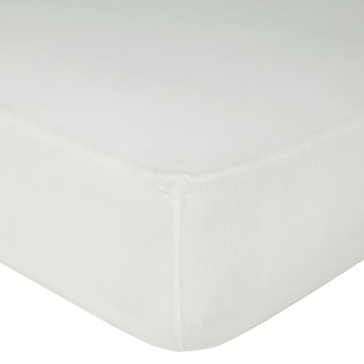 John Lewis Croft Collection 100% Linen Fitted Sheet