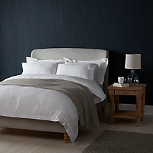 Buy John Lewis Croft Collection 100% Linen Bedding, White Online at johnlewis.com