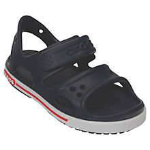 Buy Crocs Children's Crocband II Sandals, Navy/White Online at johnlewis.com