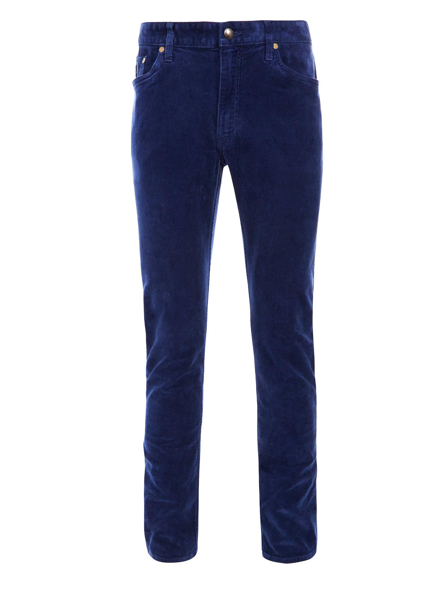 34c90ce4240d57 Buy Polo Ralph Lauren Varick Slim Fit Corduroy Trousers, Navy, 32R Online at  johnlewis ...