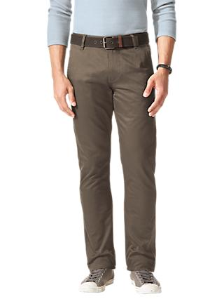 Dockers Slim Tapered Twill Trousers, Dark Pebble