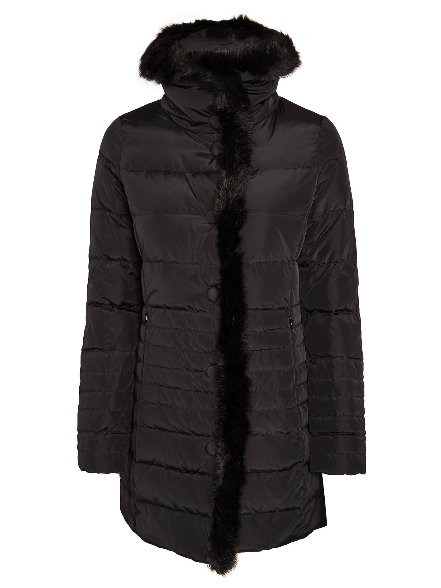 7af52ae8335b Buy Armani Jeans Faux Fur Trim Coat