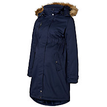 Buy Mamalicious Becky Maternity Parka Coat, Navy Online at johnlewis.com