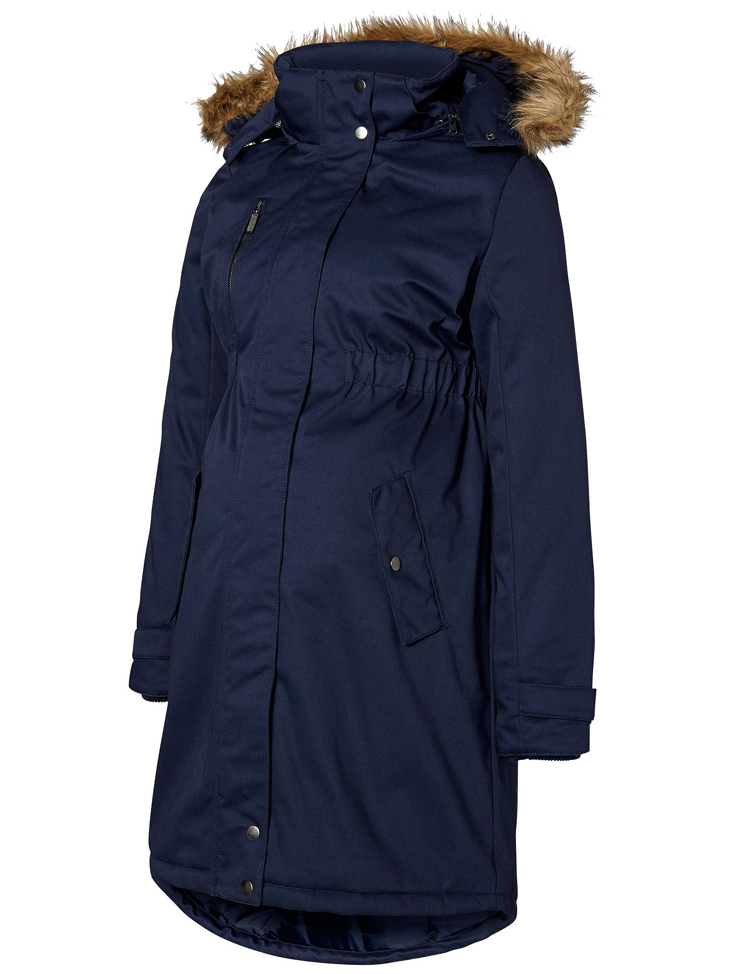 07291fd5d3ac6 Buy Mamalicious Becky Maternity Parka Coat, Navy, S Online at johnlewis.com  ...