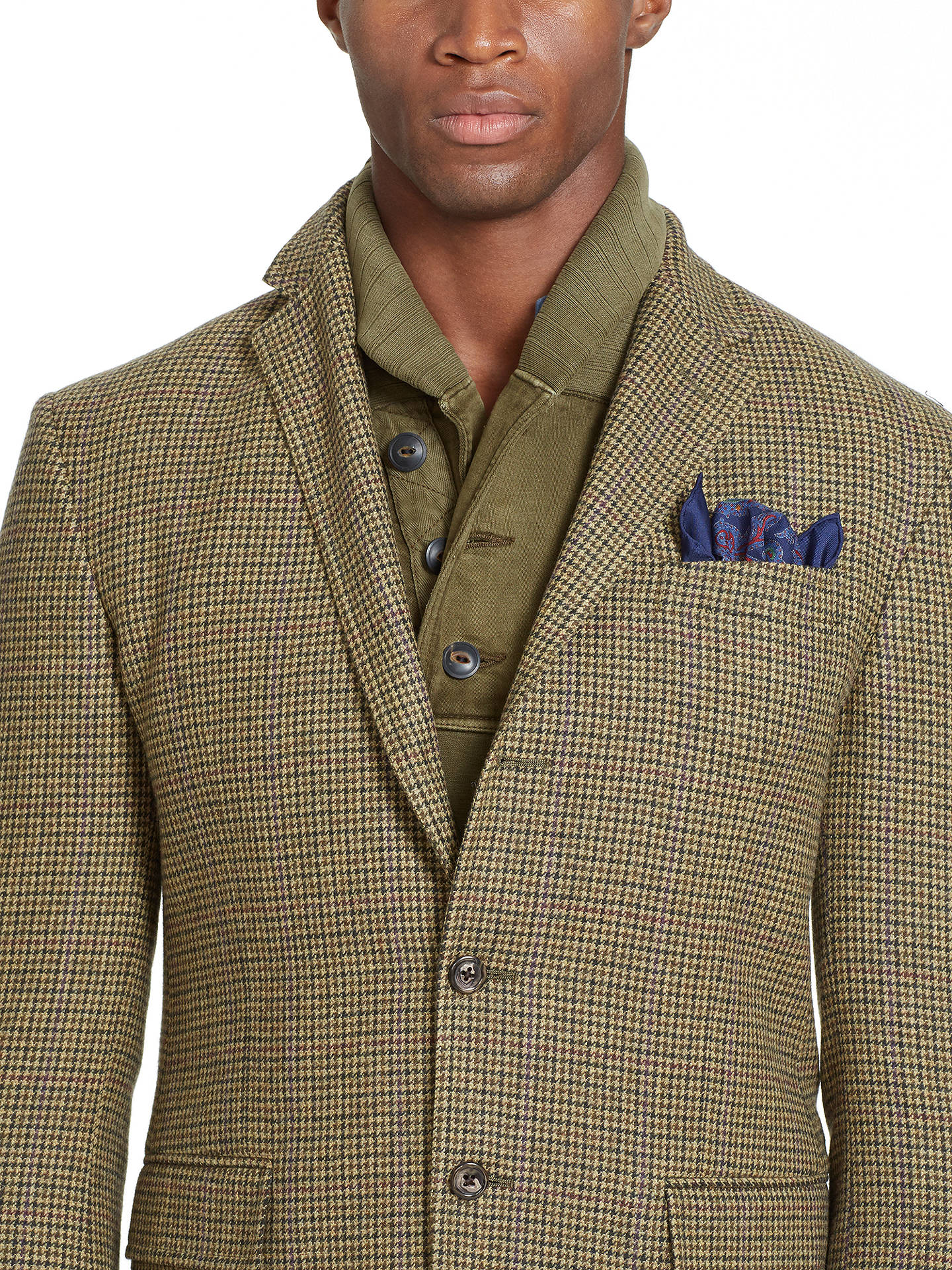 f0ed3dc7ddf092 ... BuyPolo Ralph Lauren Polo Houndstooth Sports Jacket, Olive Tan, 40R  Online at johnlewis ...