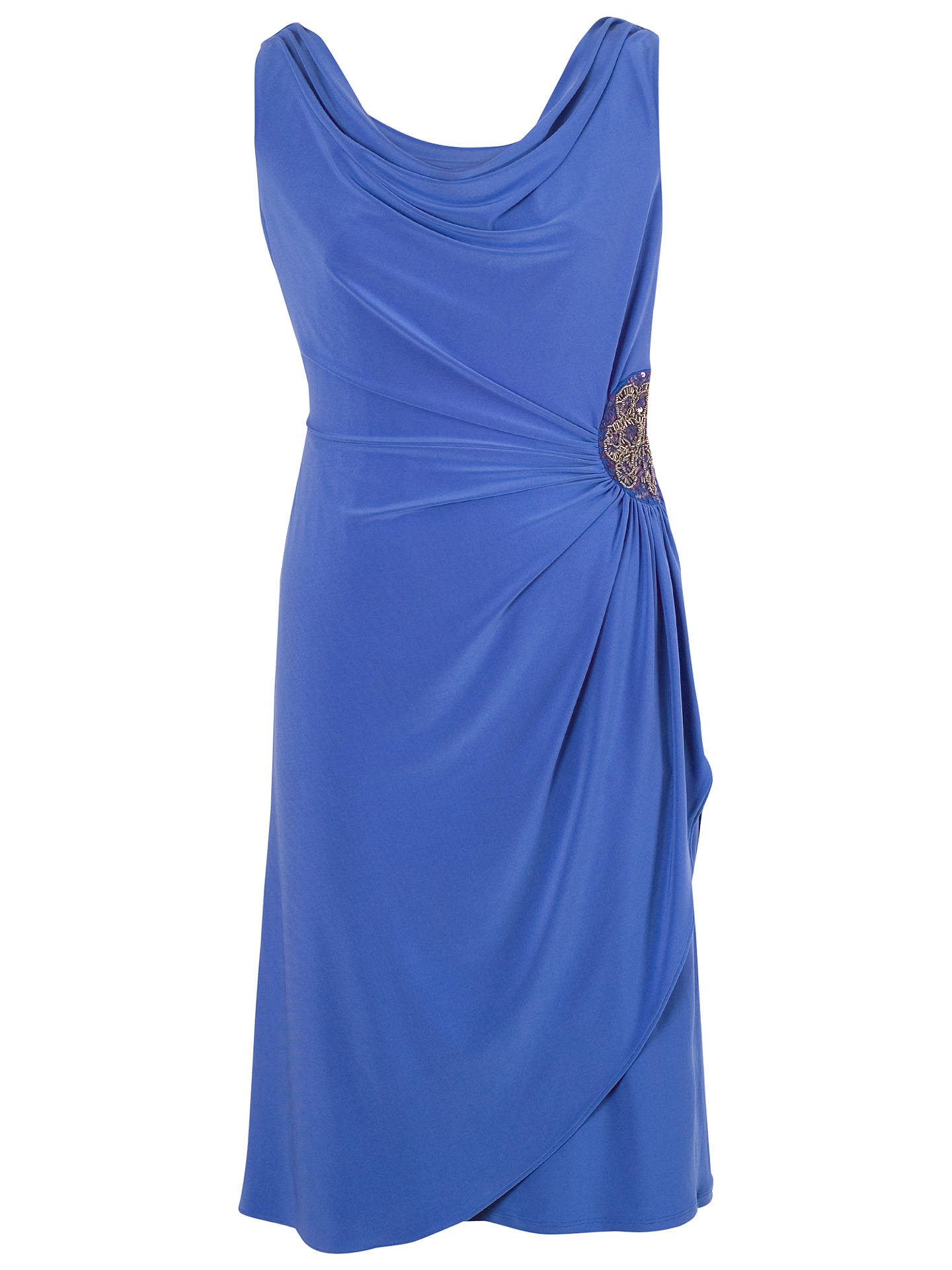 BuyChesca Cowl Neck Side Bead Dress, Lupine, 12 Online at johnlewis.com