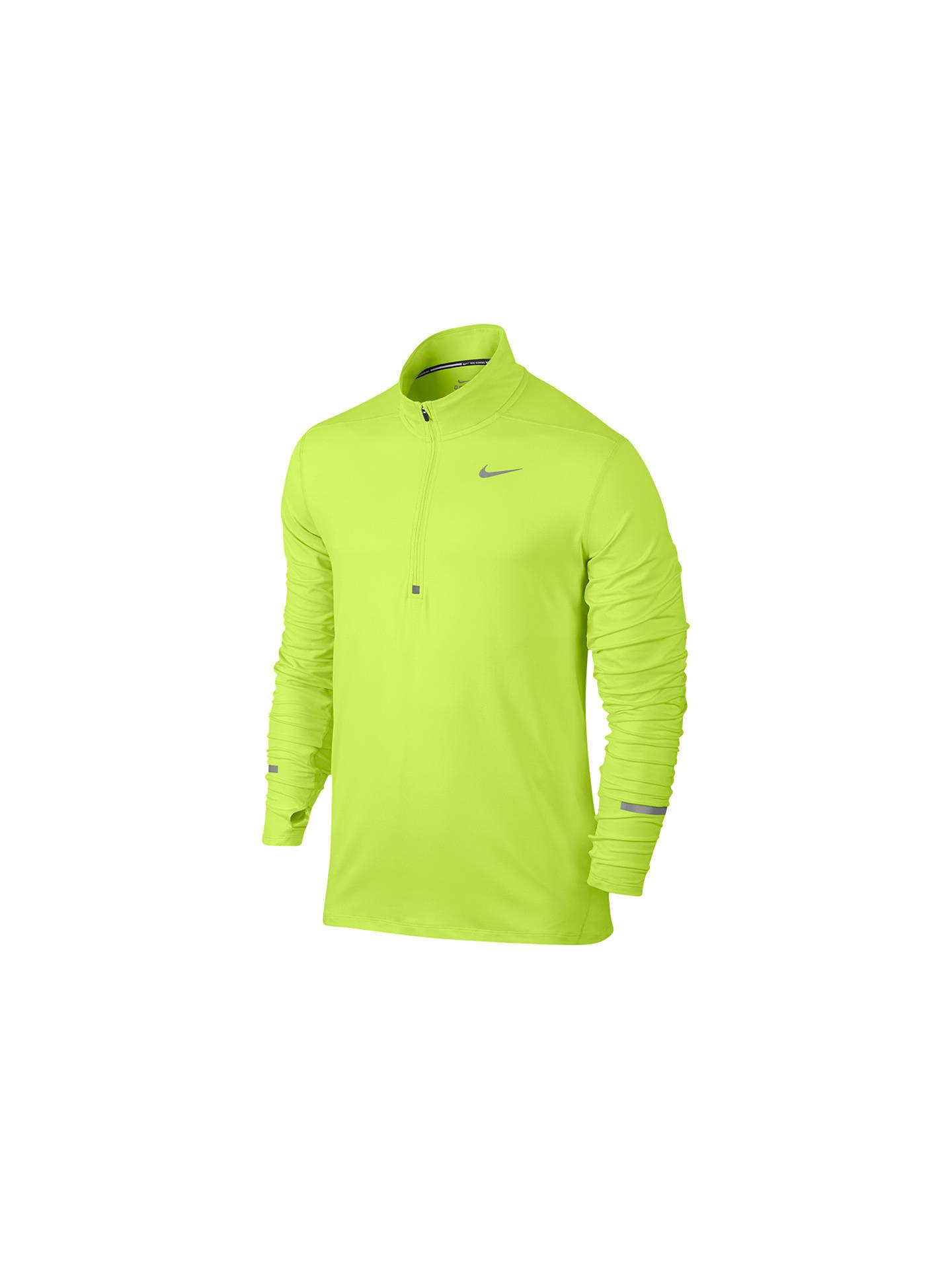 68e4e5d93989f Nike Dri-FIT Element Half-Zip Long Sleeve Running Top, Volt at John ...